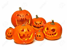 halloween background jack large group of halloween jack o lanterns over a white background