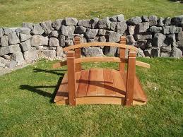 irresistible garden bridges n crescent moon plank bridge in garden