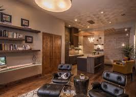 eames chair living room modern casita for entertaining amy bubier klosterman hgtv