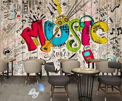 color wall art shenra com 3d graffiti music color board wall murals wallpaper wall art