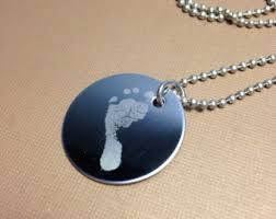 footprint necklace personalized custom footprint etsy