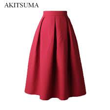 pleated skirt women pleated skirts 2017 summer skirt vintage high waist midi