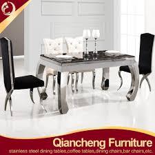 wholesale elegant modern stainless steel dining table base