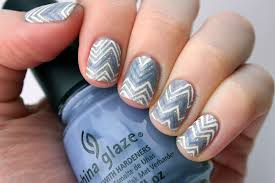 packapunchpolish chevron nail art with video tutorial