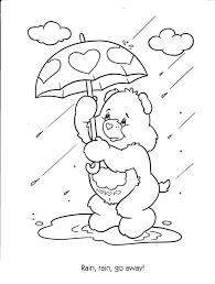 animal care bear printables teddy bear coloring care bear names
