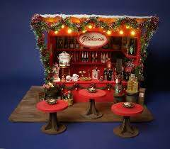 german miniature christmas market stall glühwein by dinkyworld