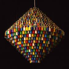 Handmade Chandeliers Lighting 17 Found Object Chandeliers