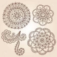 Floral Designer Resume Henna Mehndi Doodles Fleur Résumé Floral Design Paisley Vector