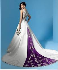 purple wedding dress plus size white and purple wedding dress