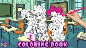 my little pony color book my little pony coloring book equestria girls computer mlp