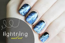 lightning nail art tutorial piorunujący manicure youtube