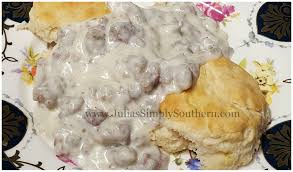 julia u0027s simply southern biscuits and gravy