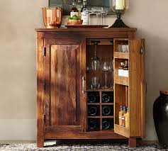 Rustic Bar Cabinet Bowry Bar Cabinet Pottery Barn