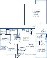 floor plans 3 bedroom ranch 1 2 u0026 3 bedroom apartments in katy tx camden downs at cinco ranch