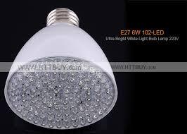 6w 102 led ultra bright white light bulb l 220v
