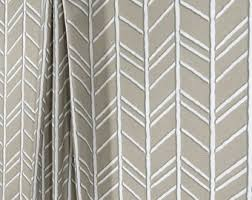 Grey Herringbone Curtains Herringbone Curtain Etsy
