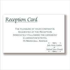 reception cards wording wedding invitations reception card wording reception card