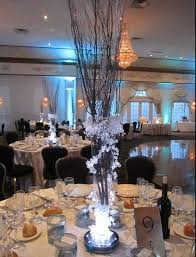 branch centerpieces iced branch centerpieces