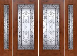 French Doors With Opening Sidelights by Rustic French Doors With Sidelights Solid Knotty Alder Doors