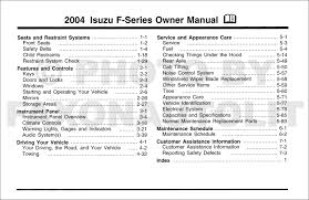 2004 isuzu f series truck owner u0027s manual original fsr ftr fvr fxr
