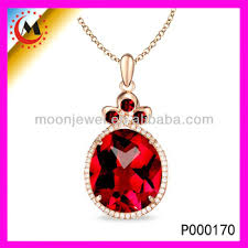 red chain necklace images Latest pendant design gold chain red stone pendant necklace big jpg