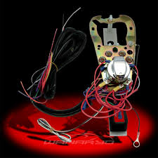dash base with wire harness kit for harley flat side tanks with