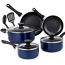 home pans amazon com cook n home 10 piece nonstick black stay cool handle