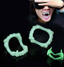Glow Dark Halloween Costumes 5pcs Fangs Fang Glow Dark Vampire Kids Halloween