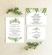 Regency Wedding Invitations Greenery Themed Wedding Invitations From Etsy The Budget Savvy Bride