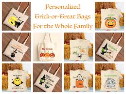 personalized trick or treat bags personalized family trick or treat bags mommematch