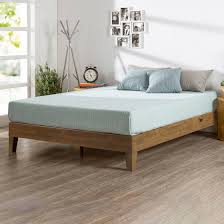 Wooden Platform Bed Frame Zinus Deluxe Solid Wood Platform Bed Sizes