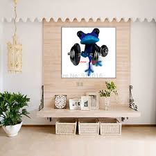 handmade abstract picture home decor weightlifting frog oil