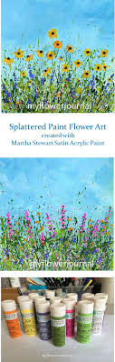 faq to create splattered paint flower my flower journal