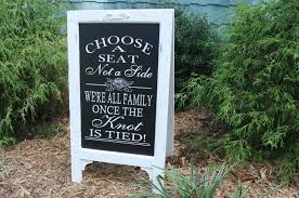 wedding seating signs seating sign choose a seat not a side a seat wedding