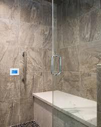 Modern Shower Bench Modern Masterbath Silestone Quartz Bench Seat Steam Shower