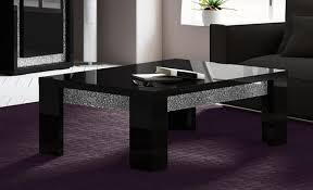 Black Side Table Coffee Table The Best Examples Modern Black Glass Coffee Table