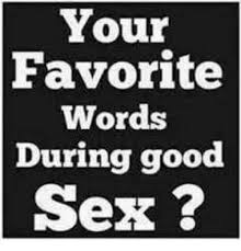 Memes About Good Sex - your favorite words during good sex meme on sizzle