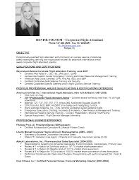 Sample Resume Objectives For Training by Flight Attendant Resume Sample Objective Attendant Flight