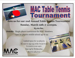 table tennis tournament midlothian athletic club