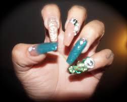 birthday acrylic nail set green envy youtube