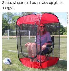 whose son has a made up gluten allergy meme