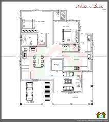 kerala three bedroom house plan plans with pooja room architecture