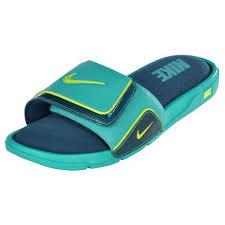 Men S Nike Comfort Slide 2 Nike Men U0027s Comfort Slide 2 Sandals Slip Ons Dark Atomic Teal Volt