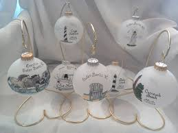 hand painted glass ornaments tar heel trading company