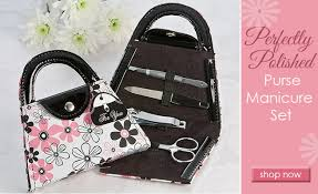 manicure set favors and bridal shower favors flip flop pedicure set purse
