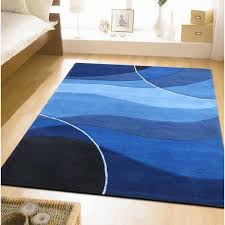 Designer Wool Area Rugs Modern Blue Area Rugs Blue Rugs For Bedroom Ajs Apartment Inside