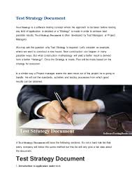 writing a strategy paper test strategy document