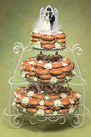 doughnuts stacked and shaped like a 3 tiered cake cakecentral com