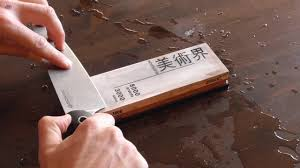 how to sharpen a kitchen or chef u0027s knife on a sharpening stone