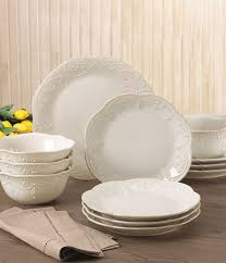 lenox perle scalloped stoneware 12 dinnerware set